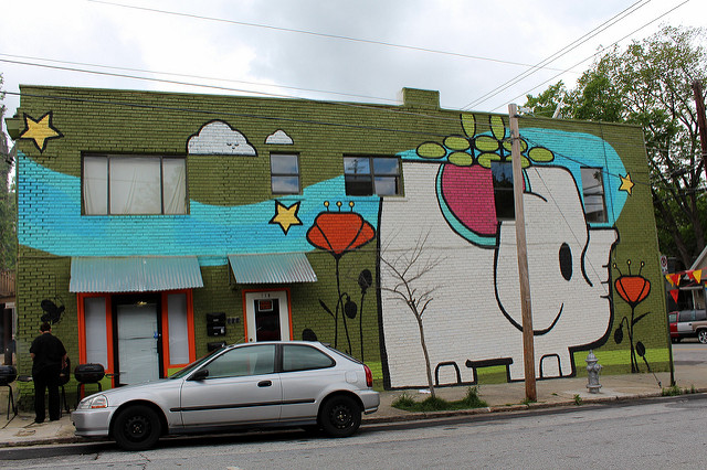 A snapshot of Old Fourth Ward, one of Atlanta's emerging neighborhoods. Photo courtesy of Wally Gobetz.
