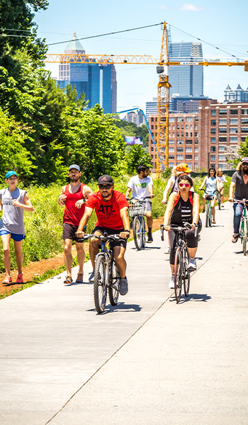 Riding bikes on the Beltline