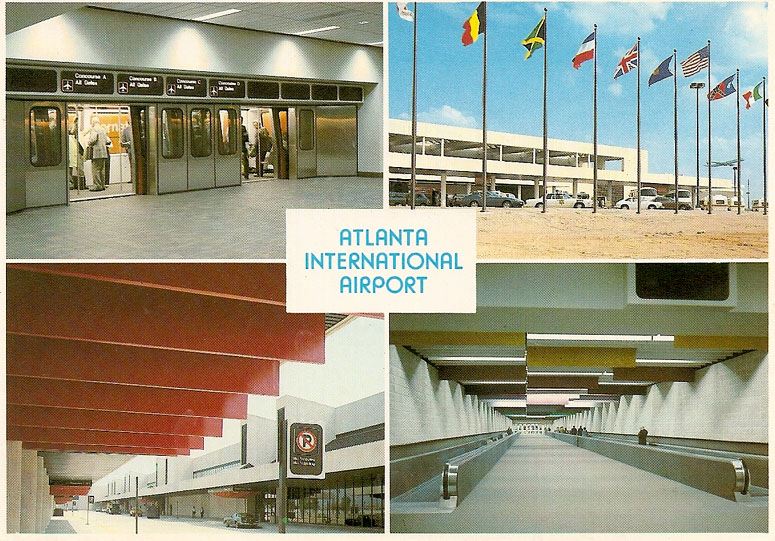 A postcard of the Atlanta airport terminal in 1981, courtesy of Atlanta Time Machine.