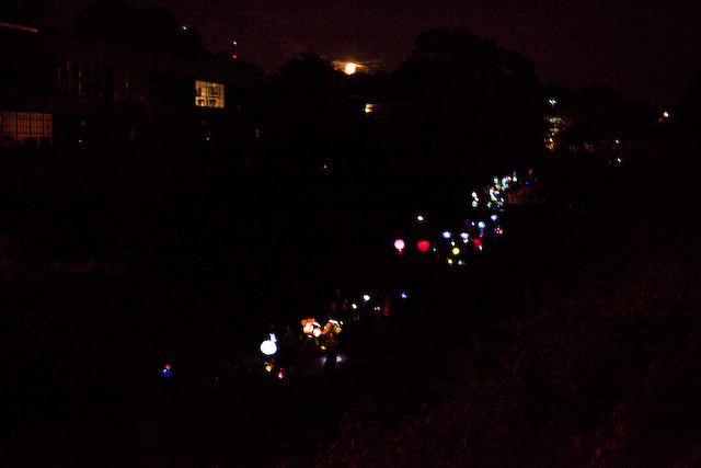 The inaugural BeltLine Lantern Parade, held in 2010.